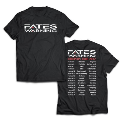 Tour2012 T-Shirt | FATES WARNING Official Shop